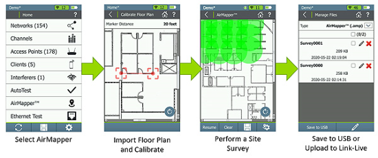 AirMapper Site Survey for AirCheck G2